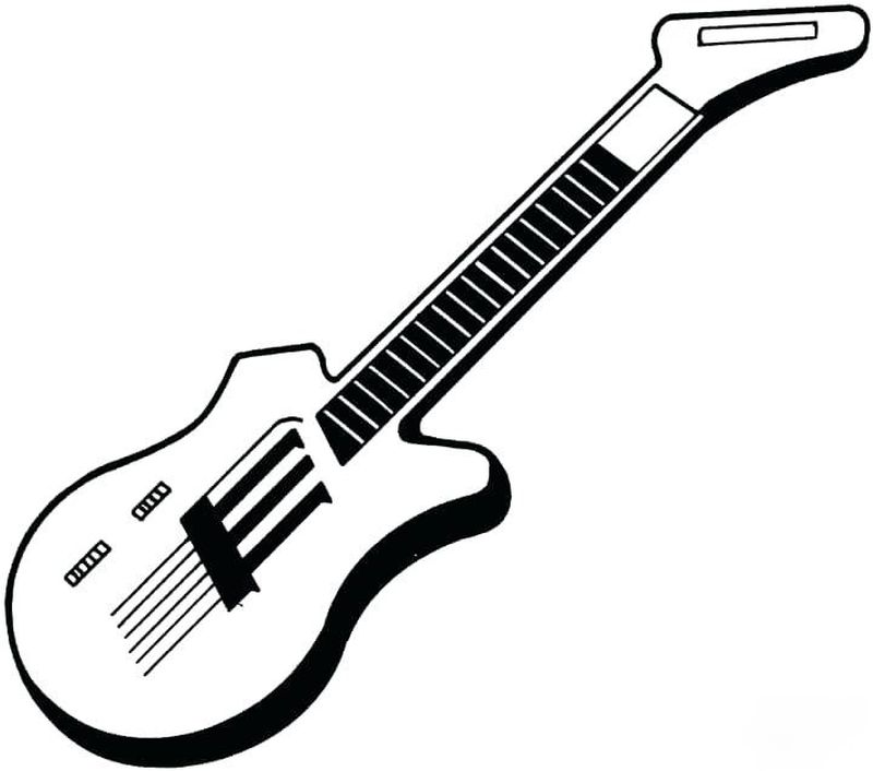 guitar coloring pages to print for free