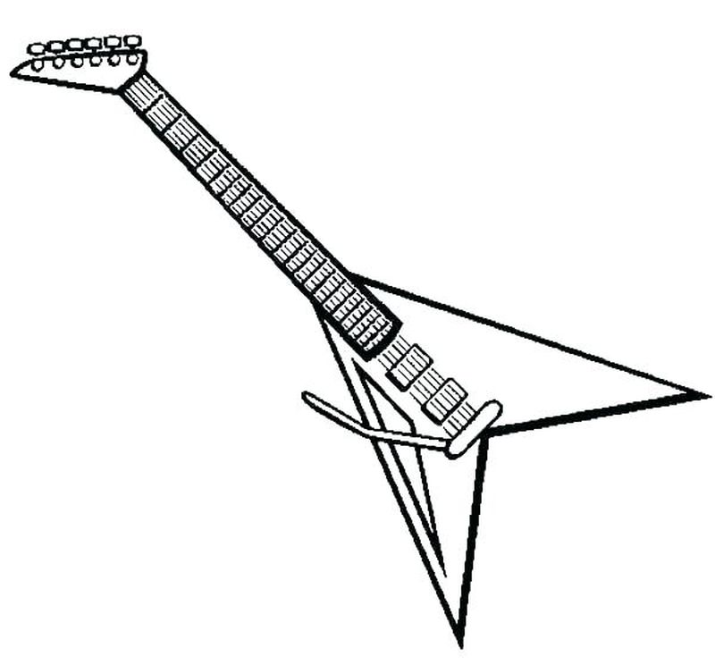 guitar colouring in page