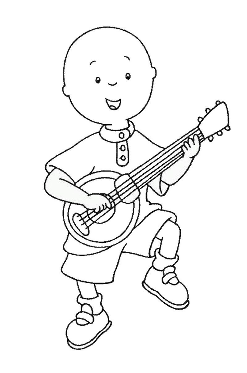 guitar kids coloring page