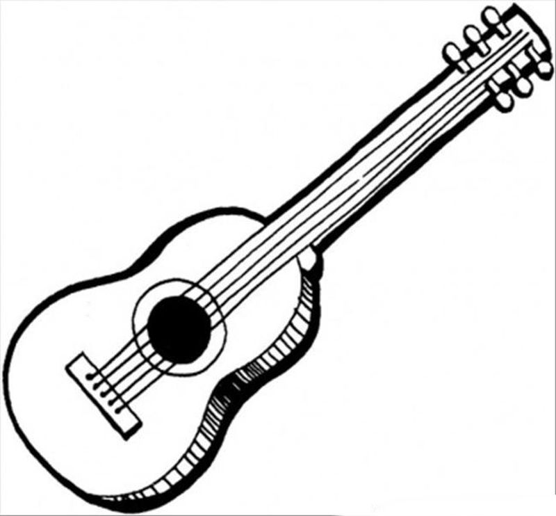 guitar player coloring page print