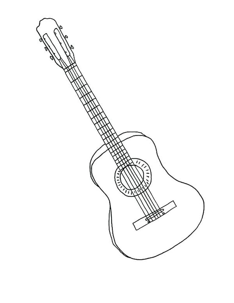 guitar player coloring page
