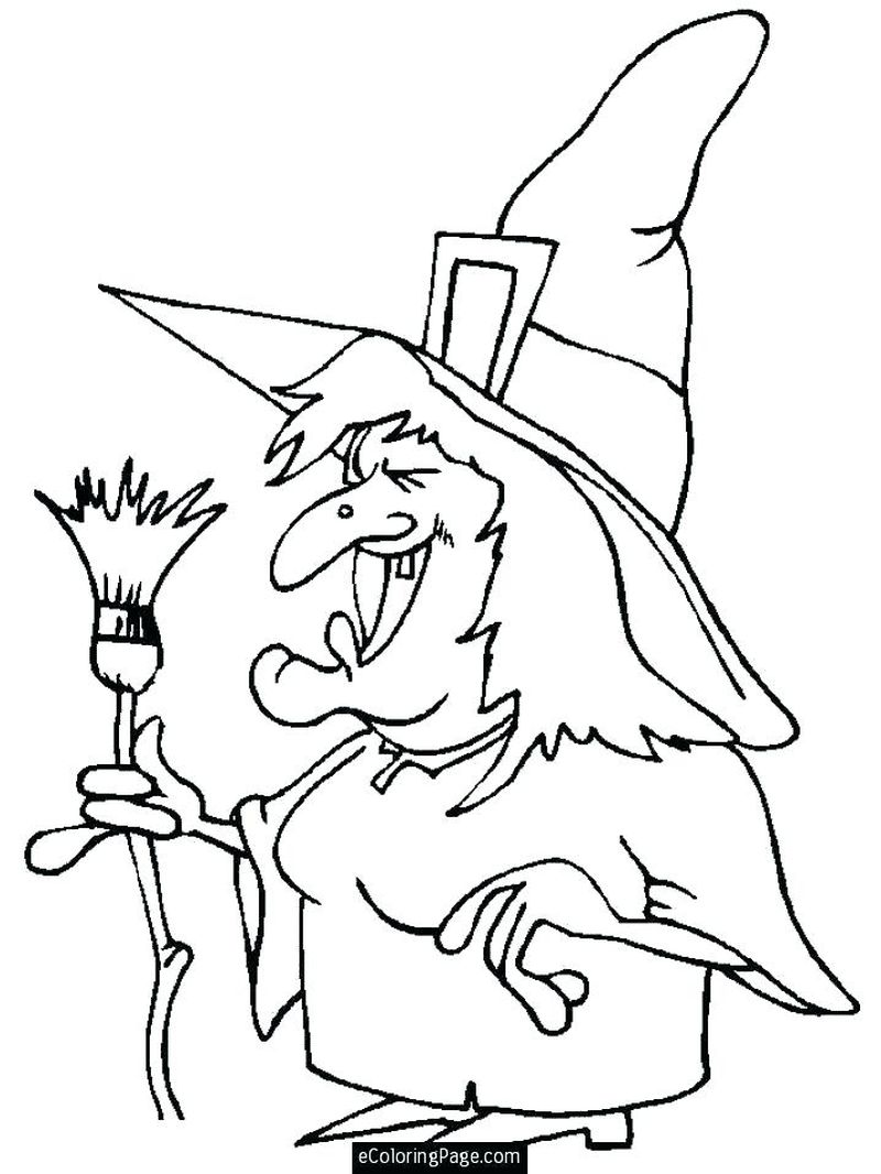 halloween witch PRINTABLE coloring pages