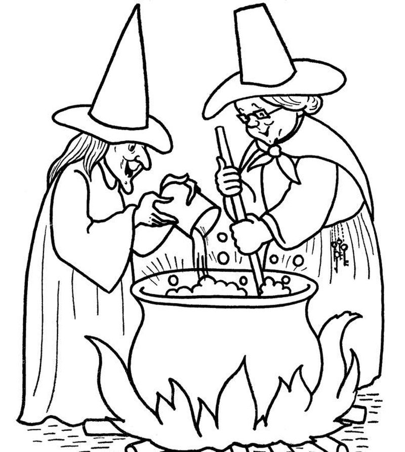 halloween witch coloring pagesPrintable