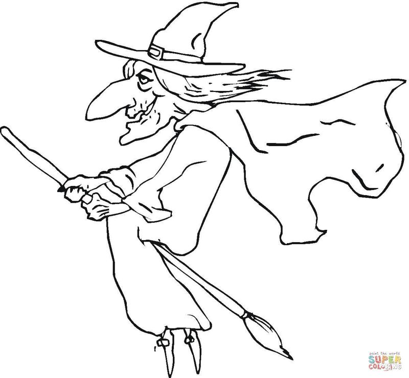 halloween witch hat coloring pagesPrintable