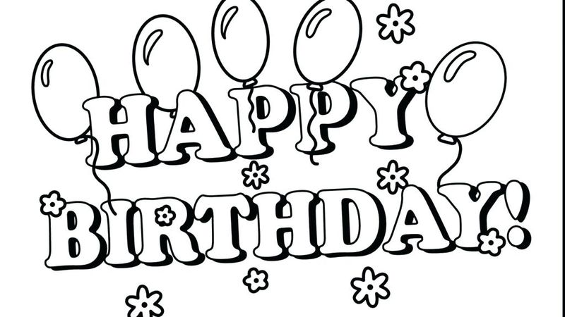 happy birthday coloring pages for dad printable