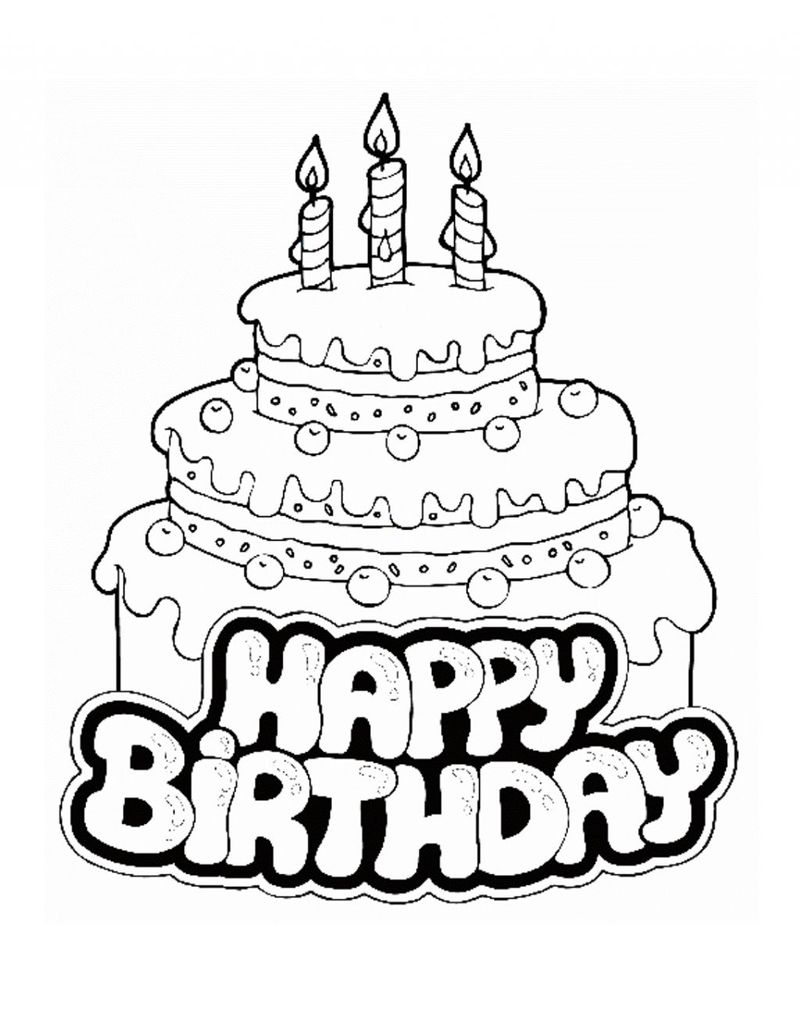 happy birthday coloring pages for grandma printable