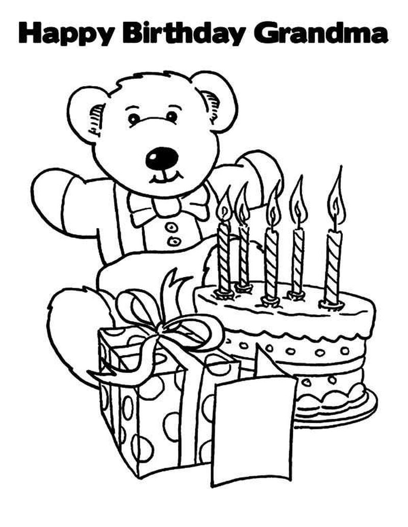 happy birthday coloring pages for mom printable