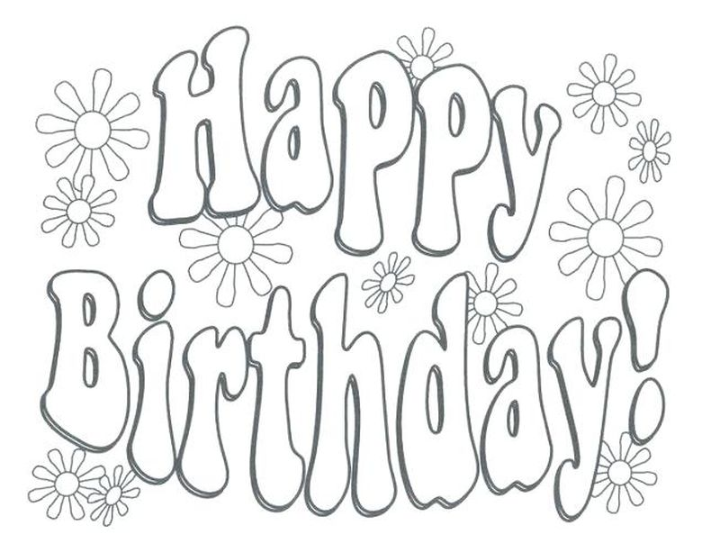 happy birthday coloring pages free
