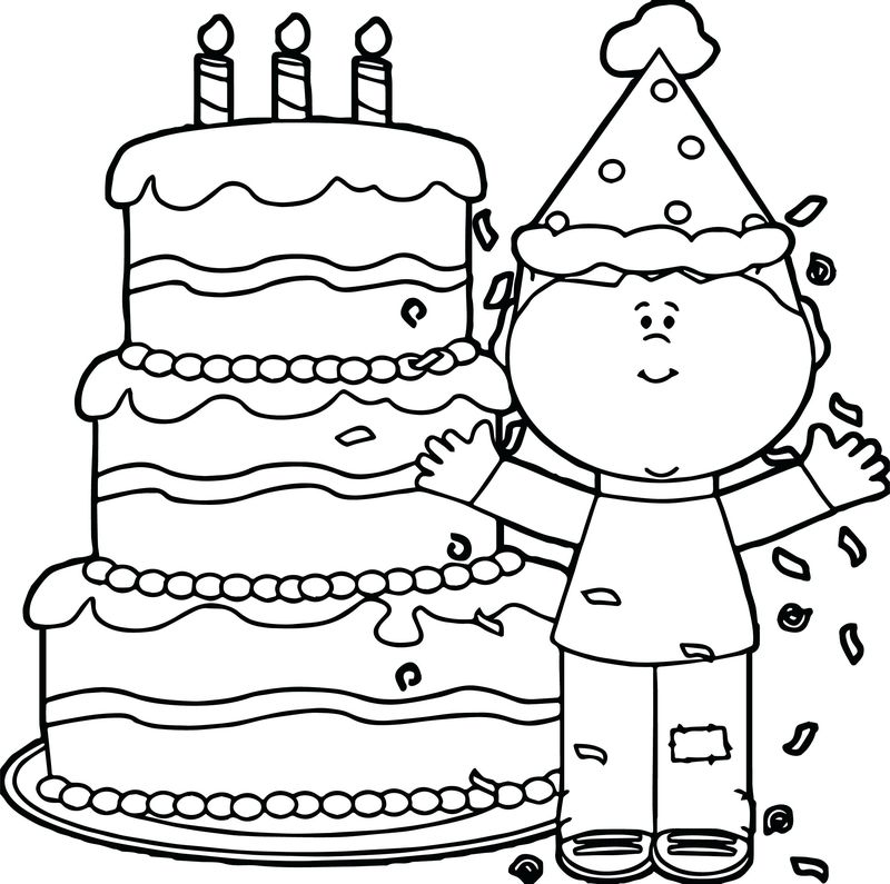 happy birthday coloring pages pdf printable
