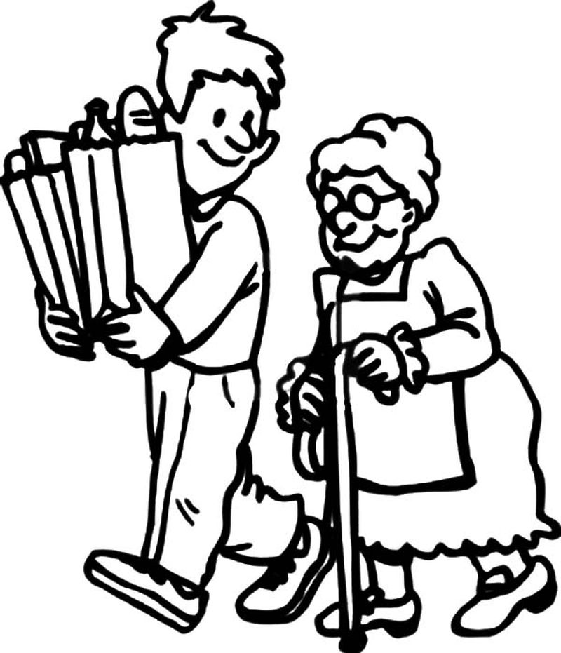 helping people coloring pages