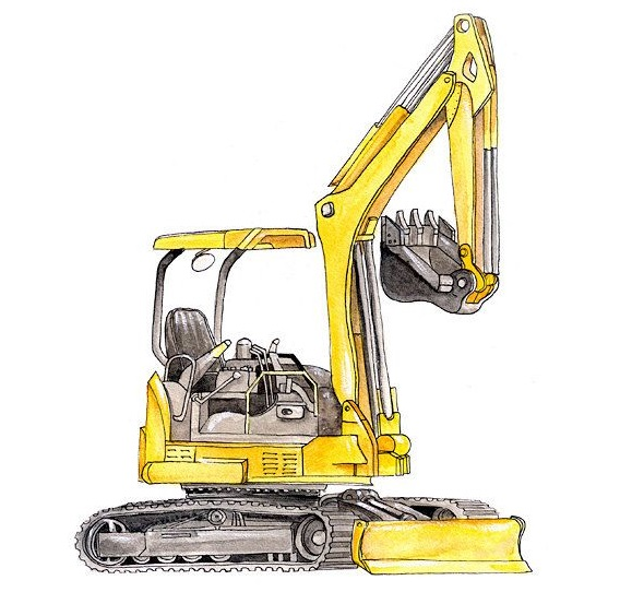 image Excavator Coloring Pages