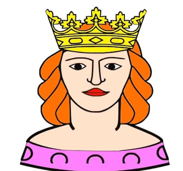 image print queen coloring page