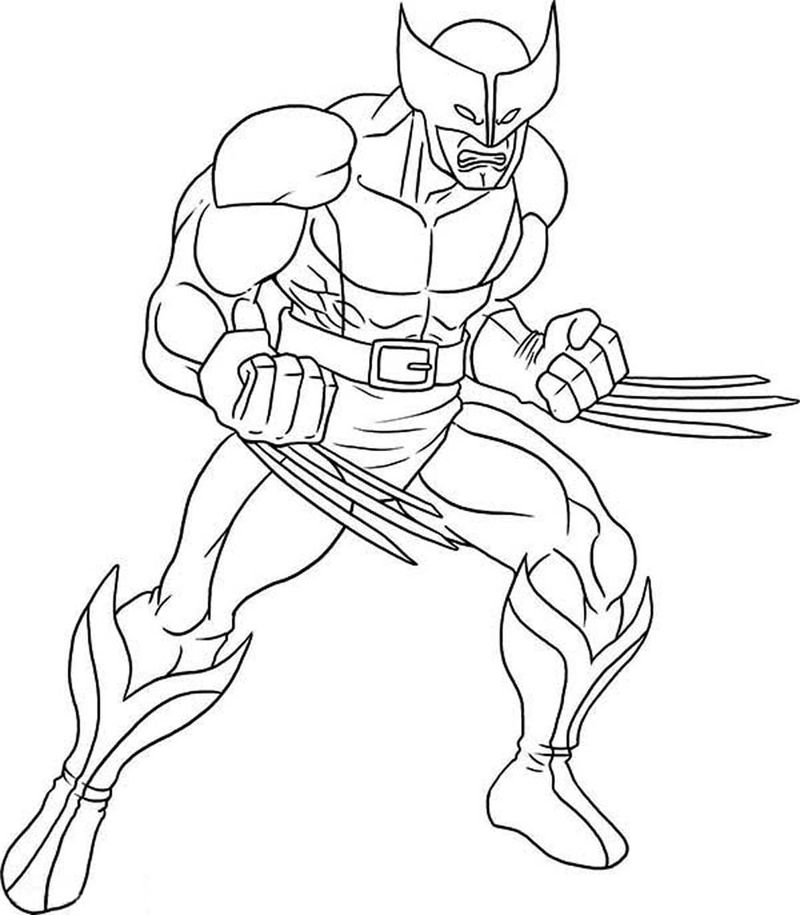 images of x men coloring pages