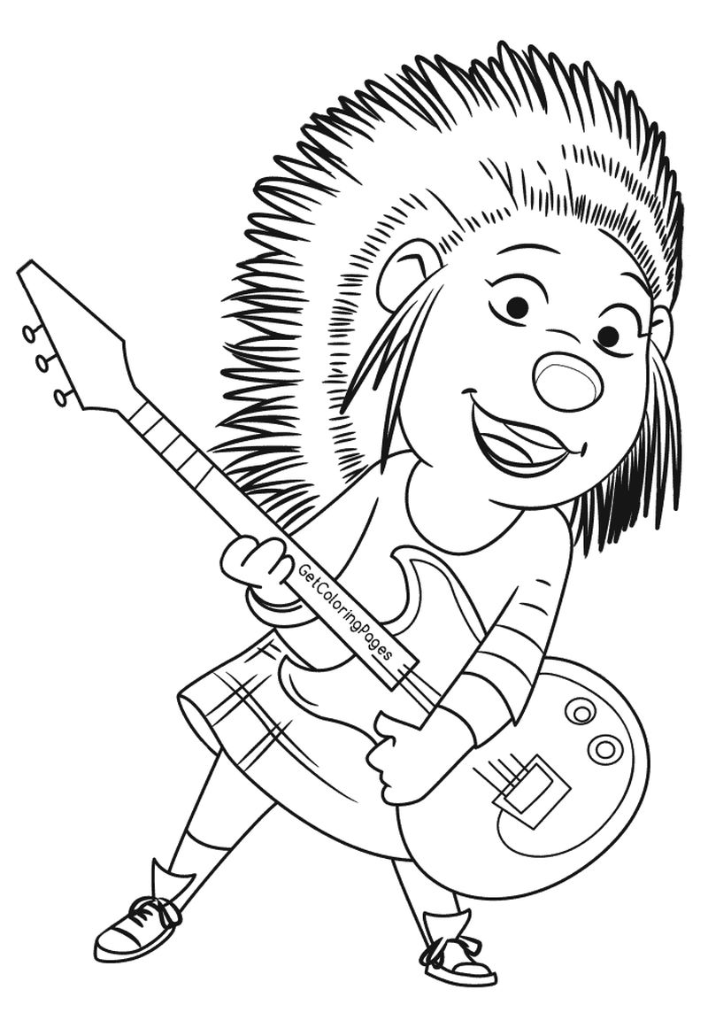 johnny sing movie coloring pages Printable