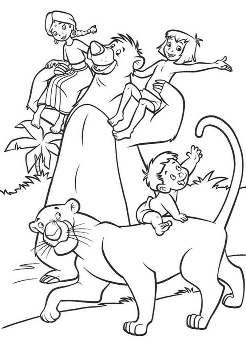 jungle book coloring pages printable