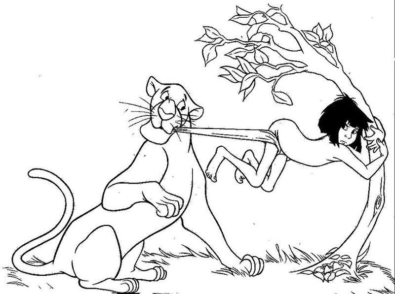 jungle book colouring pages pdf