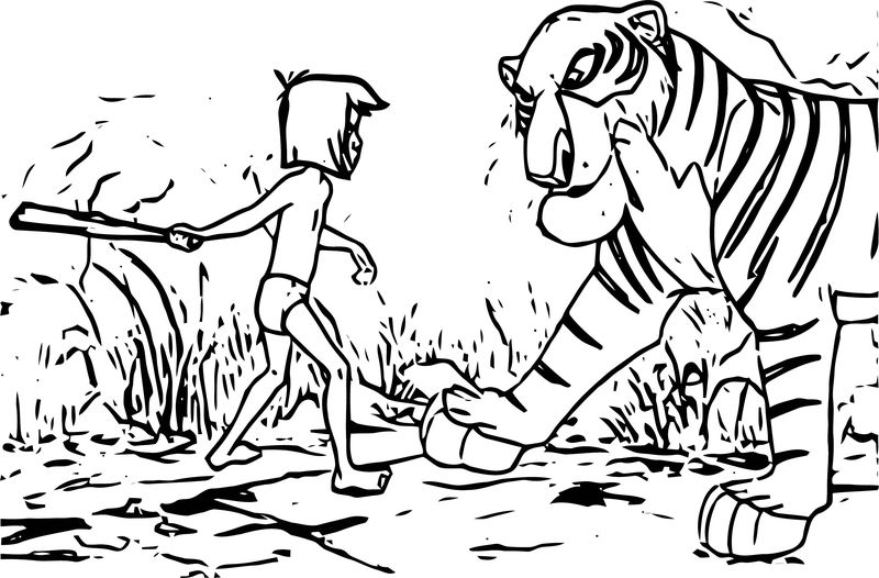 jungle book colouring pages to print