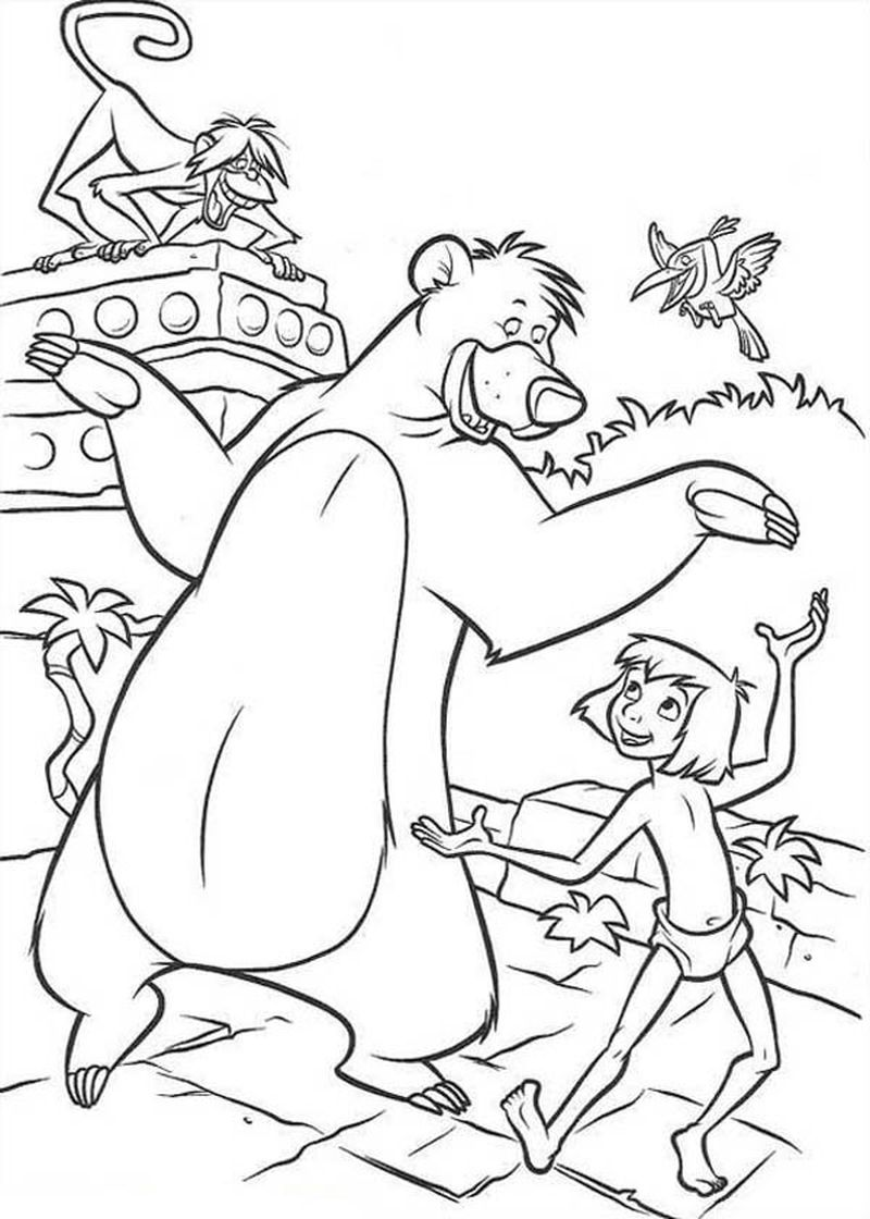 jungle book colouring pages