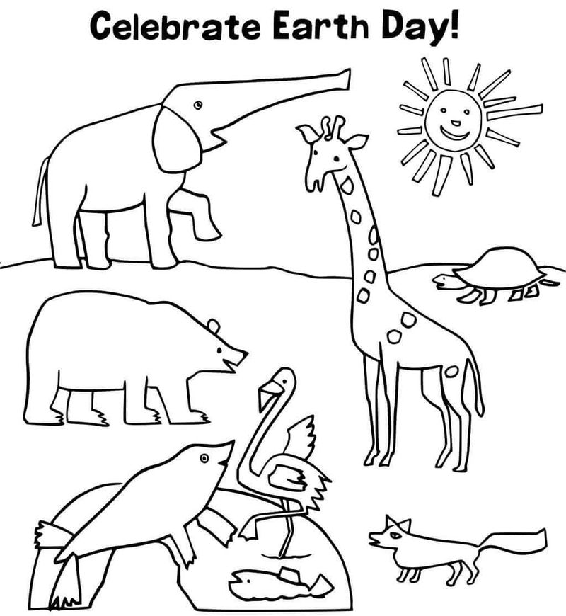 kids coloring pages earth day Printable