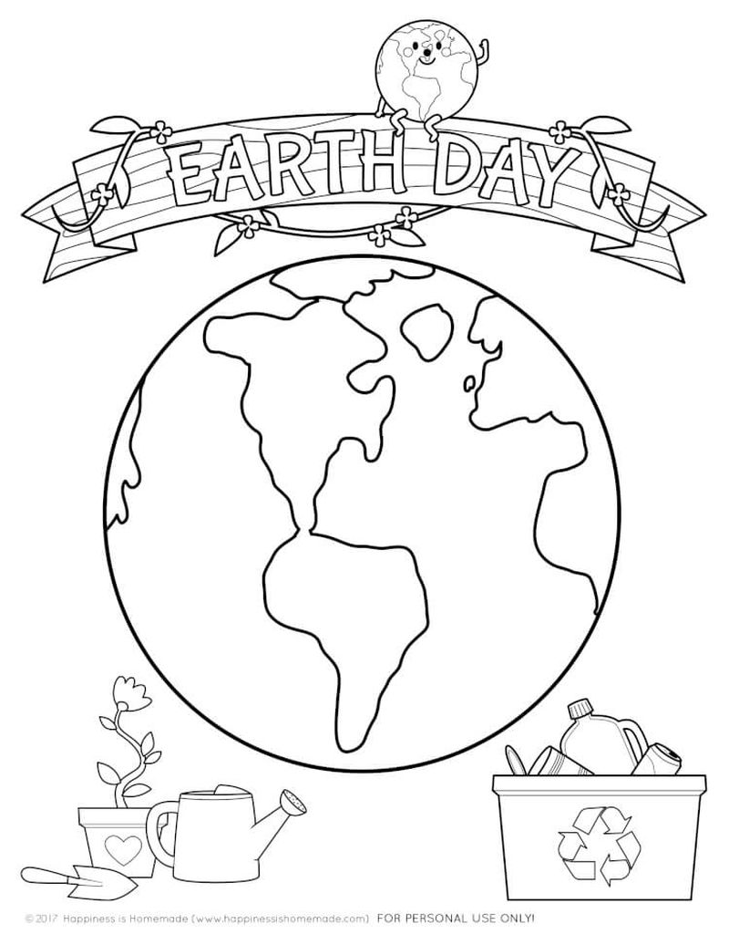 kids earth day coloring pages printable
