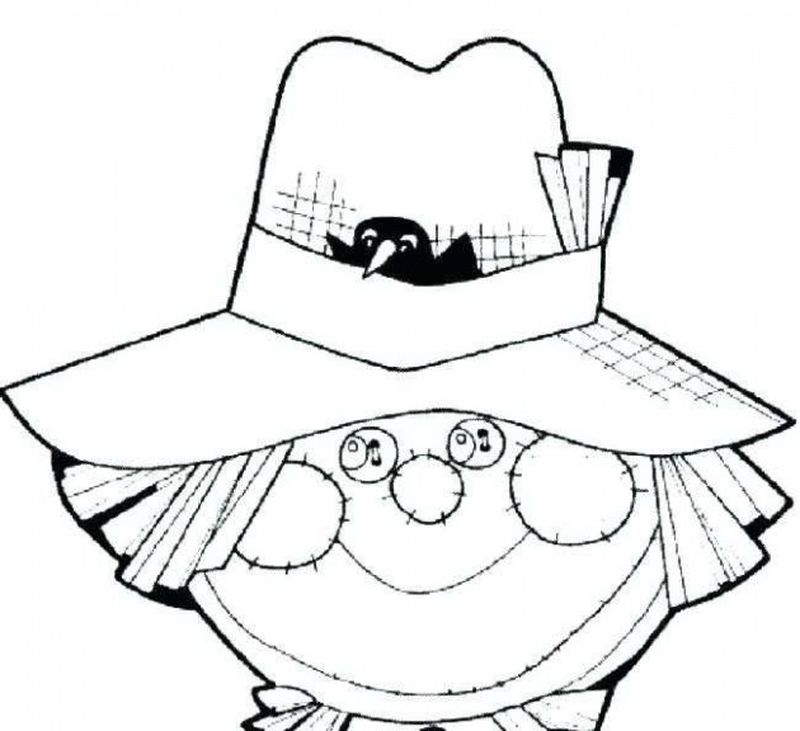 large scarecrow coloring page
