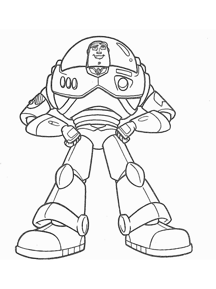 lego buzz lightyear coloring page