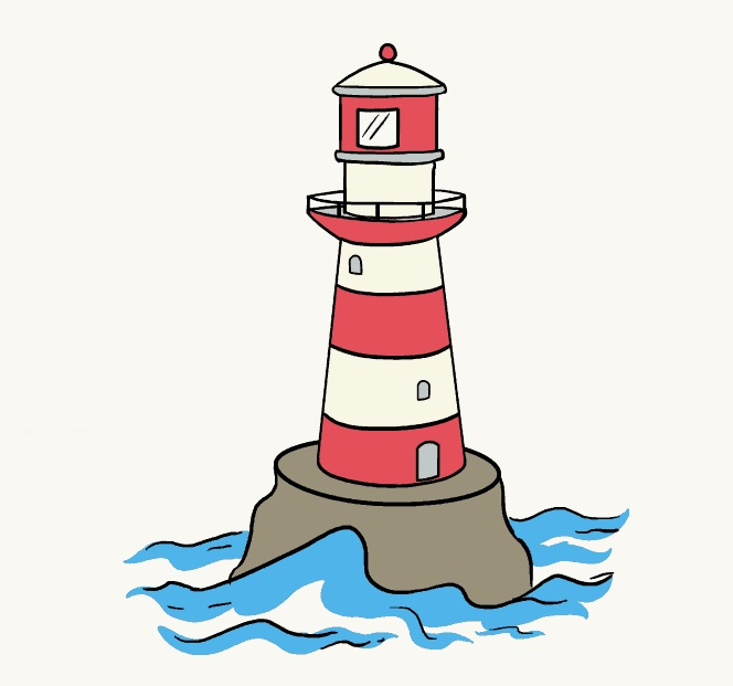 lighthouse coloring
