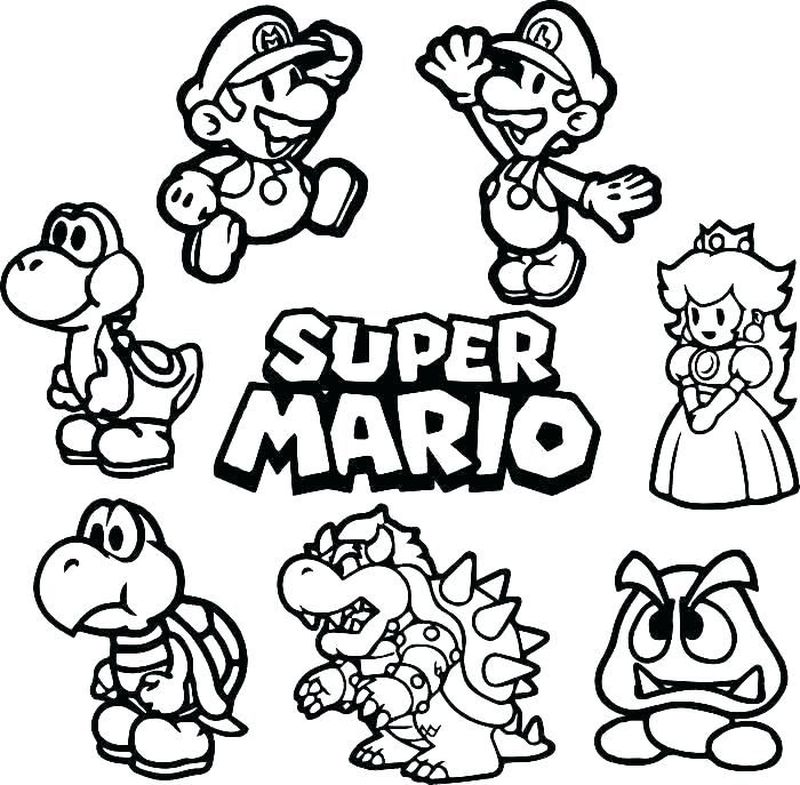 mario super sluggers coloring pages