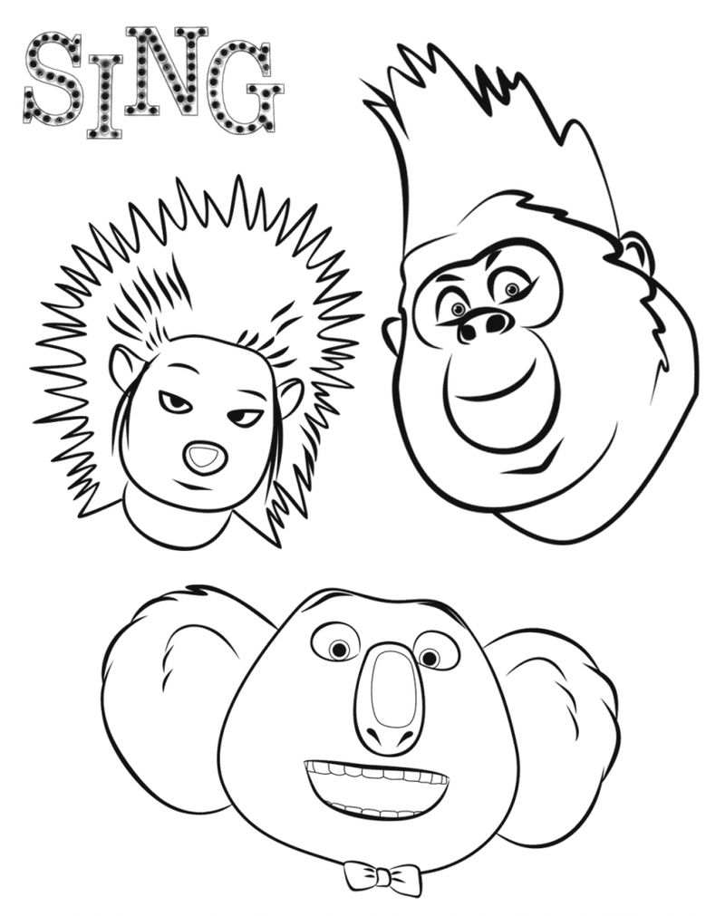 mike sing coloring pages