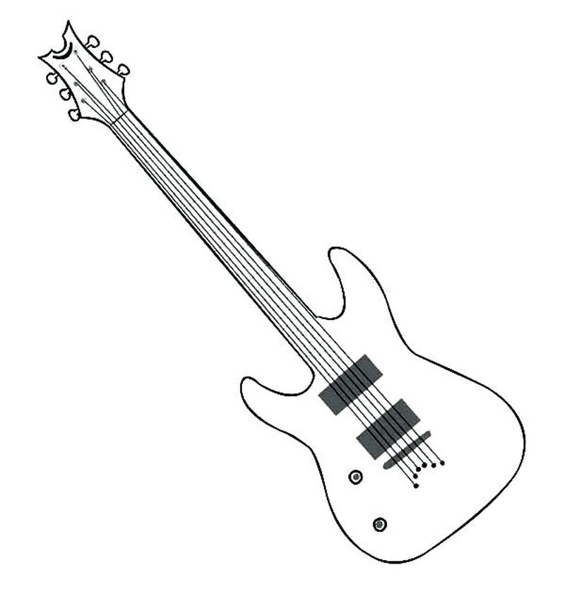 minions guitar coloring page print