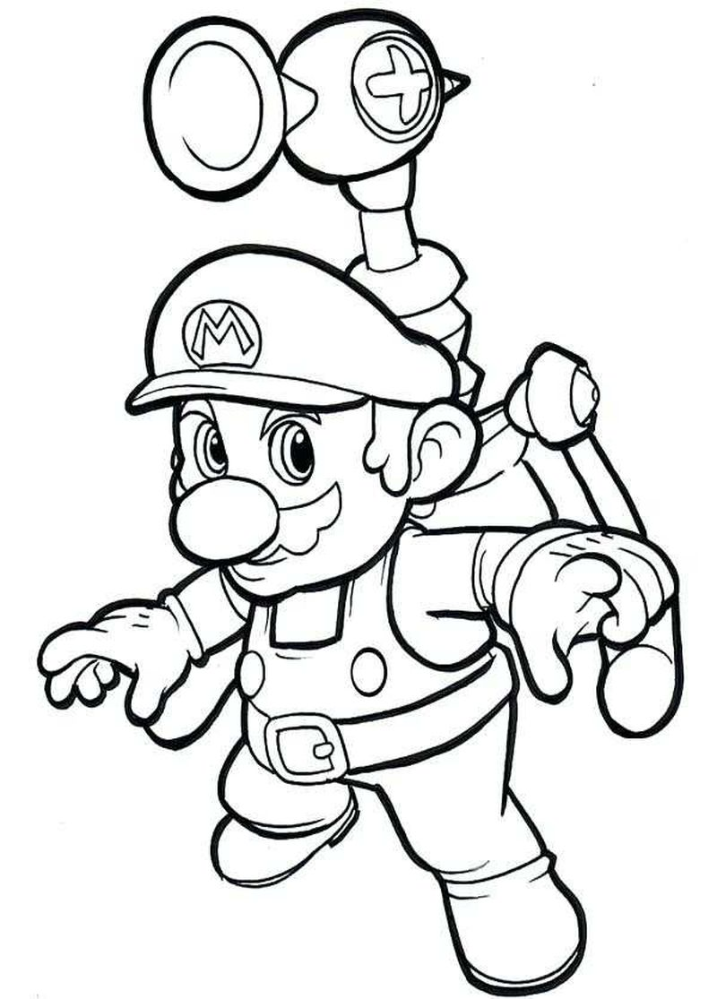 new super mario coloring pages