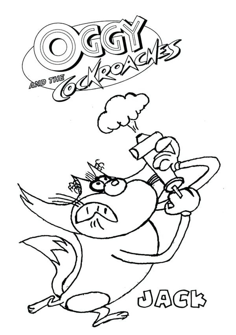 oggy and the cockroach to print pdf