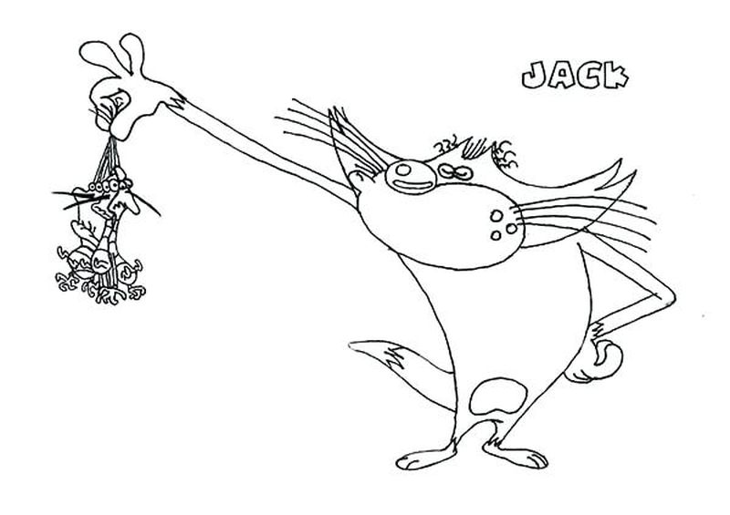 oggy and the cockroaches coloring page