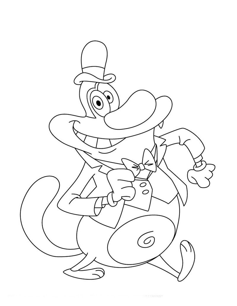 oggy and the cockroaches colouring pages