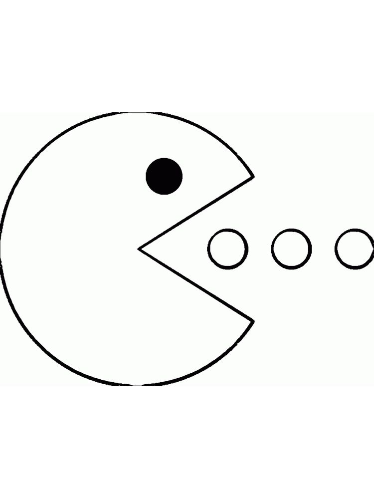 pacman coloring pages Printable