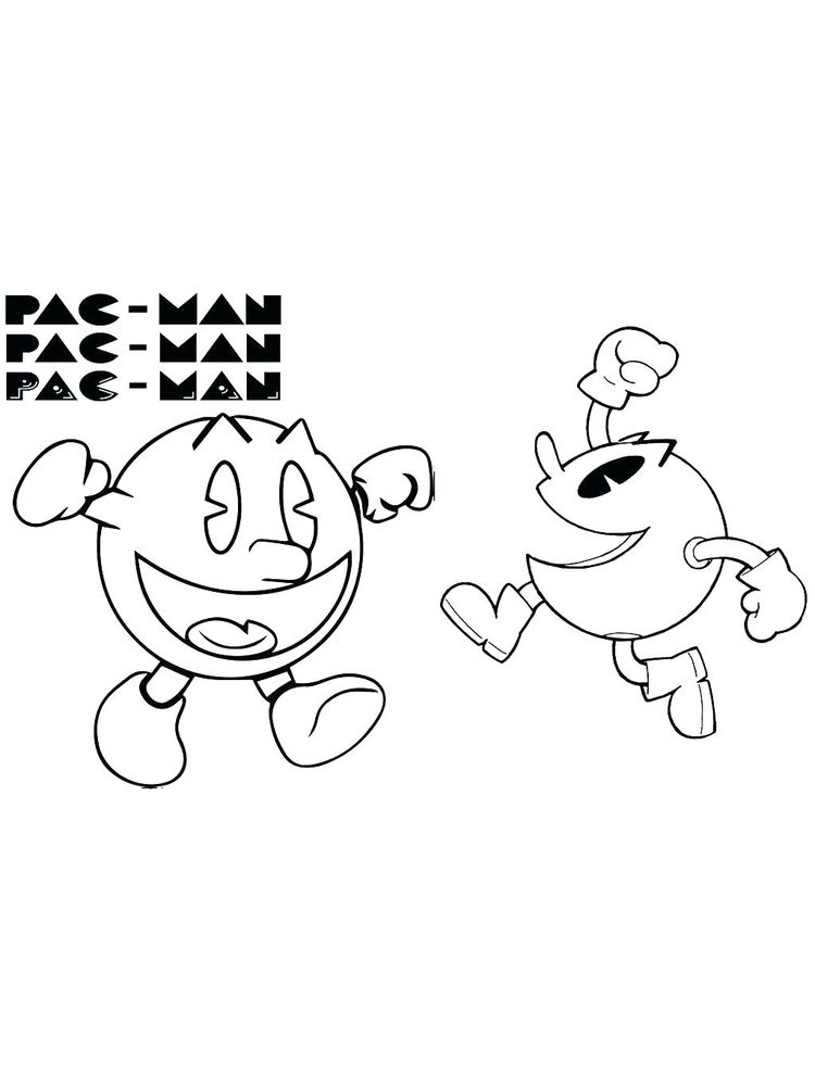 pacman coloring pages for print