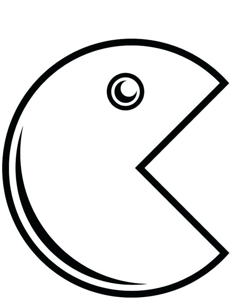 pacman coloring pages image download