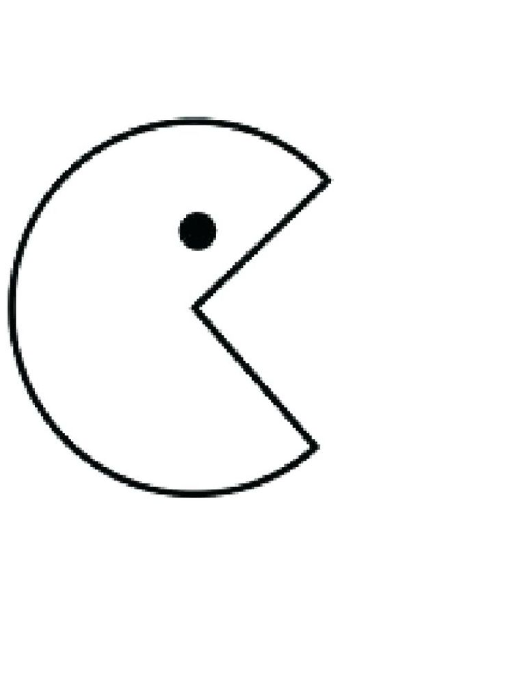 pacman coloring pages sheet