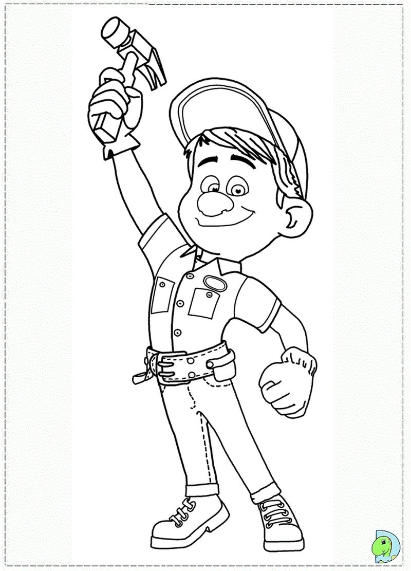 penelope on wreck it ralph coloring page