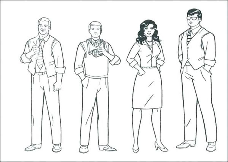 people coloring pages for print