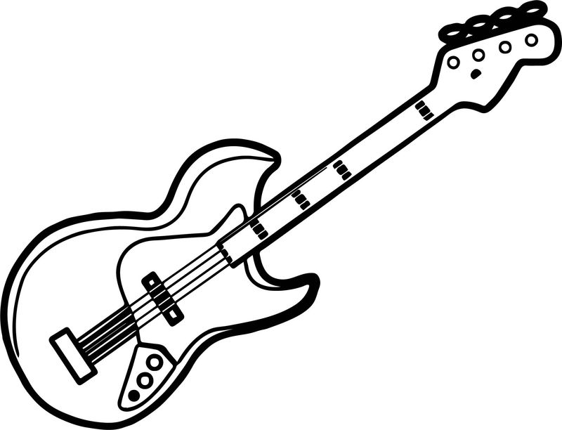pete the cat guitar coloring page