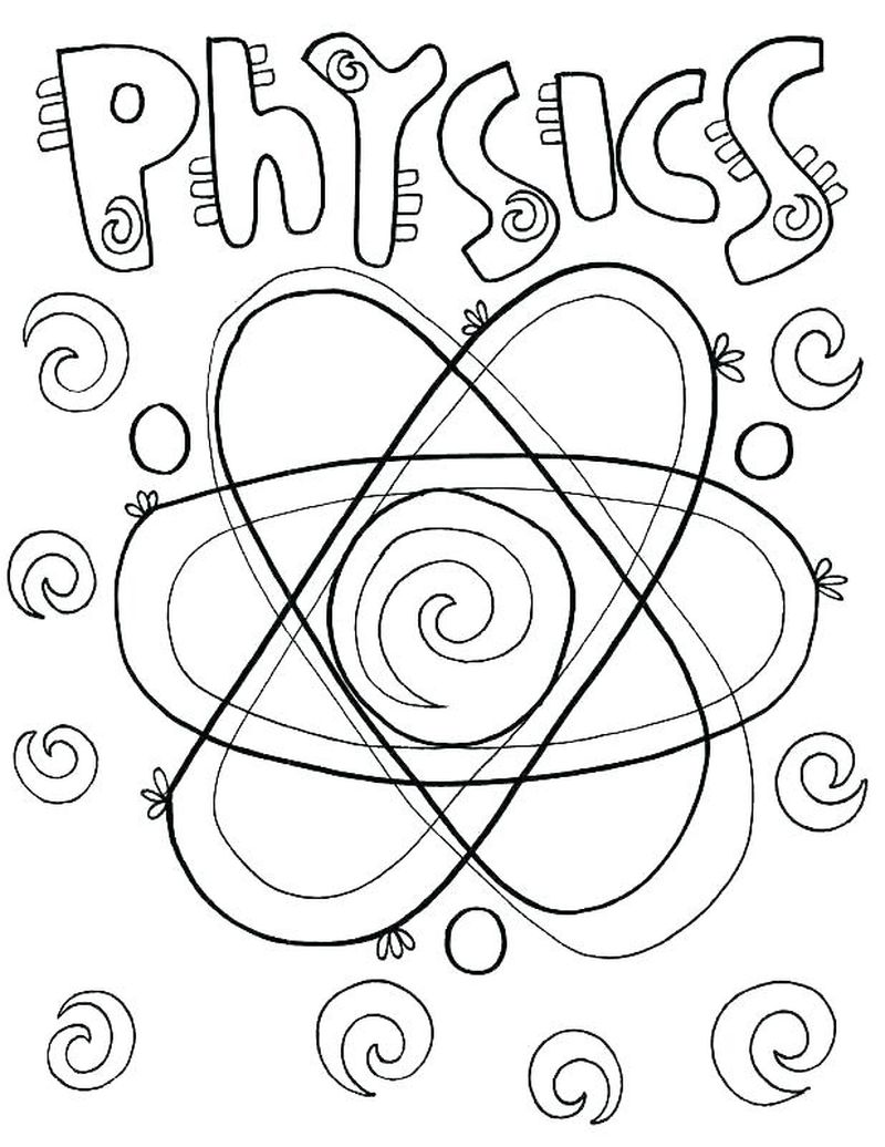 physical science coloring pagesPrintable