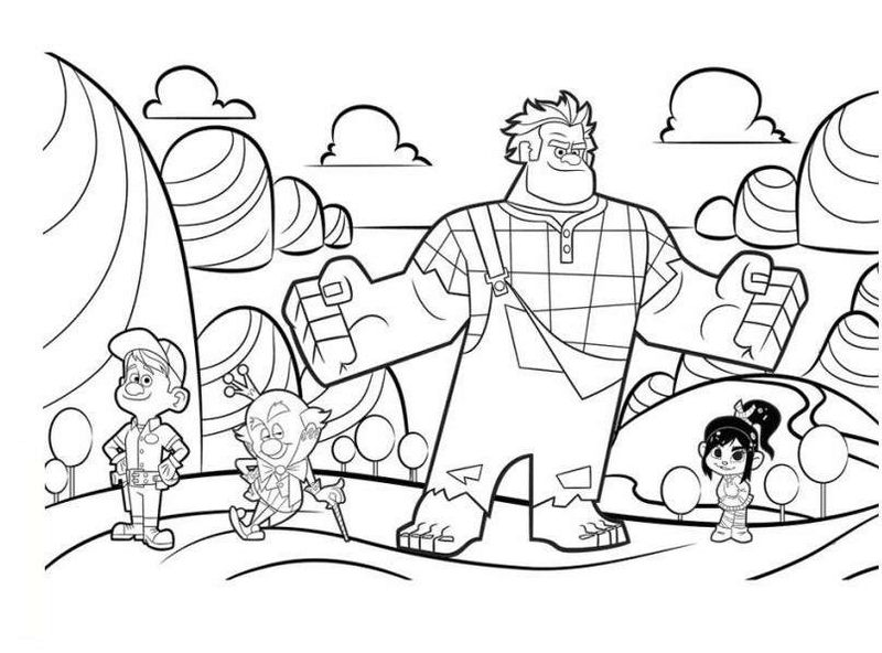 pictures of wreck it ralph coloring page