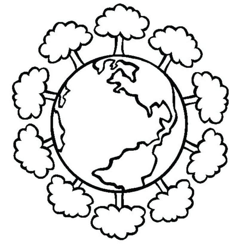 preschool earth day coloring pages
