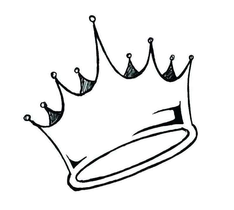 pretty crown coloring pages
