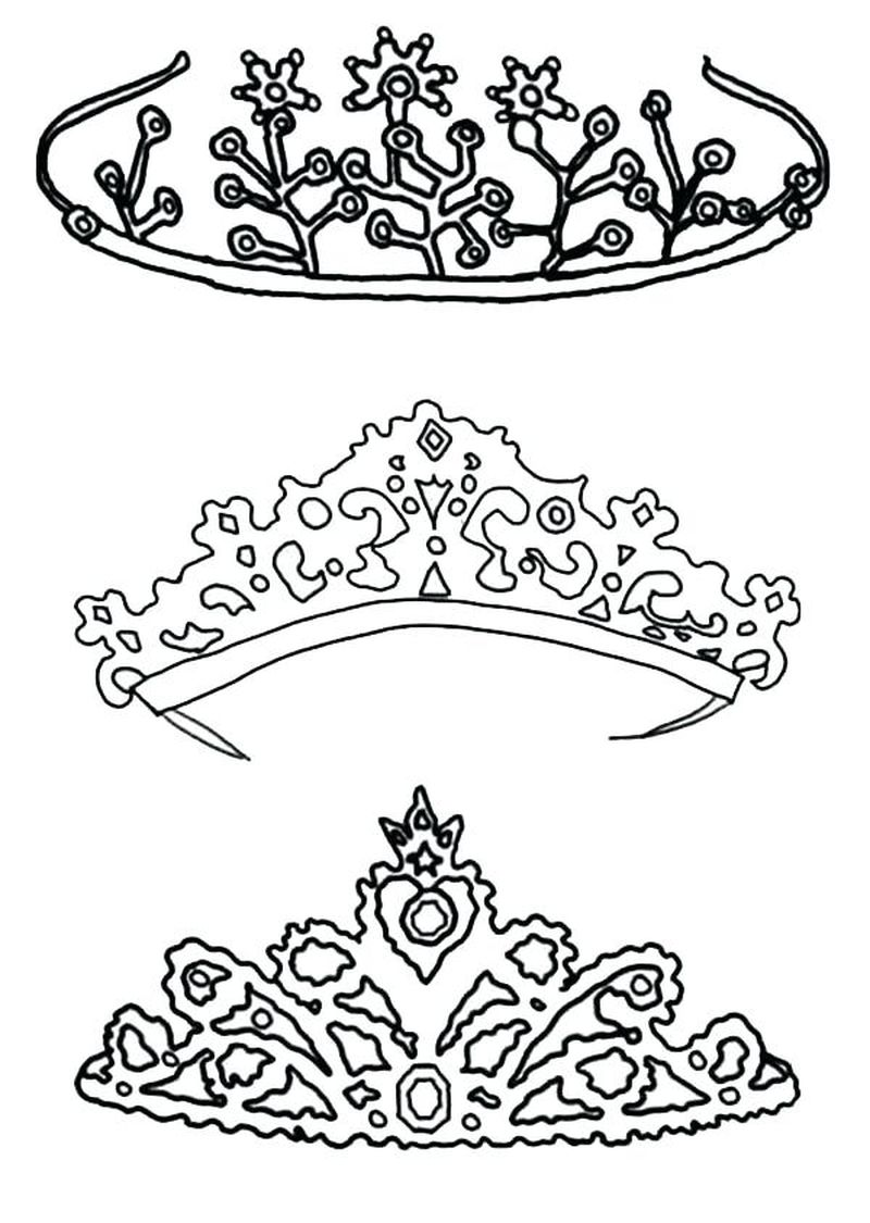 princess crown coloring pages to print