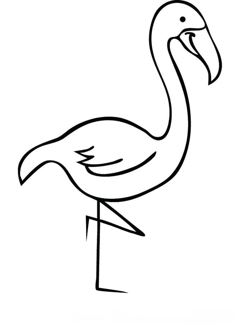 print coloring pages of flamingos