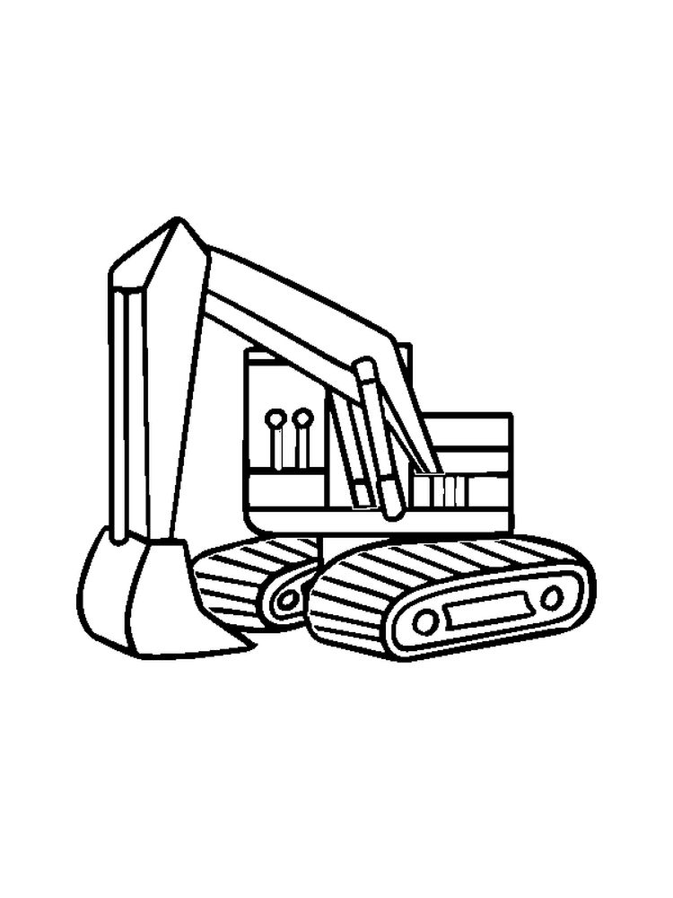 print excavator coloring pages