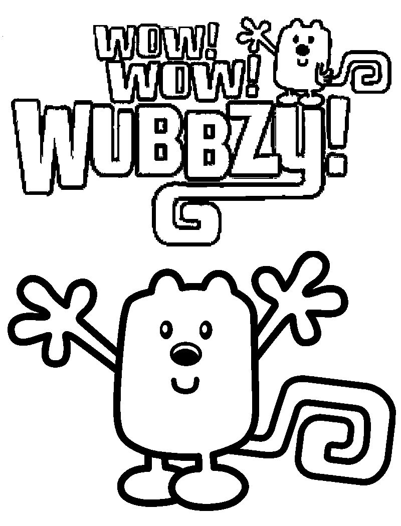 print wow wow wubbzy coloring page