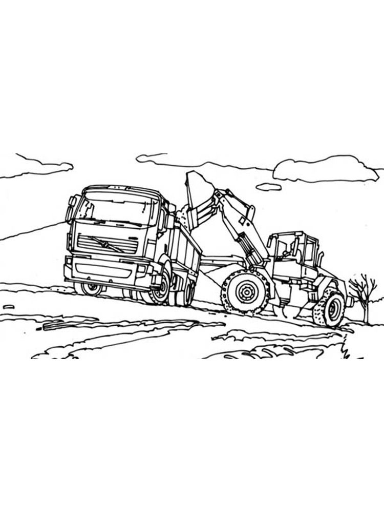 printable excavator coloring pages for kids